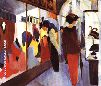 Fashion Shop 1913 By August Macke - Oil Paintings & Art Reproductions - Reproduction Gallery