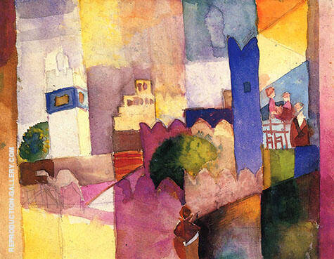 Reproduction of Kairouan III by August Macke | Oil Painting Replica On CanvasReproduction Gallery