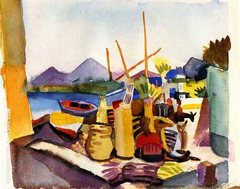 Landscape near Hammamet 1914 By August Macke