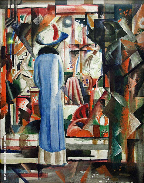 Large Bright Shop Window 1912 By August Macke - Oil Paintings & Art Reproductions - Reproduction Gallery