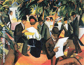 Park Restaurant 1912 Painting By August Macke - Reproduction Gallery