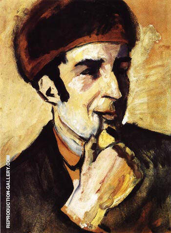 Portrait of Franz Marc 1910 By August Macke - Oil Paintings & Art Reproductions - Reproduction Gallery