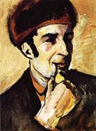 Portrait of Franz Marc 1910 By August Macke