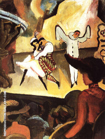 Russian Ballet I 1912 By August Macke - Oil Paintings & Art Reproductions - Reproduction Gallery