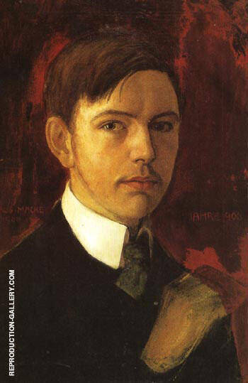 Self Portrait 1906 By August Macke