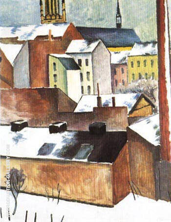 St.Marys in the Snow 1911 By August Macke