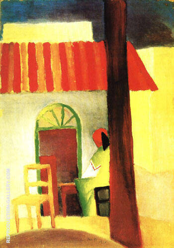 Reproduction of Turkish Cafe I 1914 by August Macke | Oil Painting Replica On CanvasReproduction Gallery