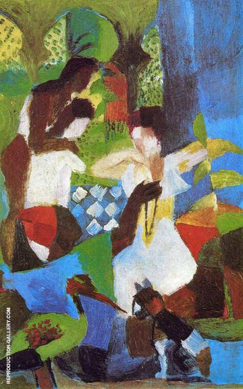 Turkish Jewel Trader 1914 By August Macke