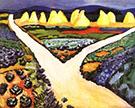 Vegetable Fields 1911 By August Macke
