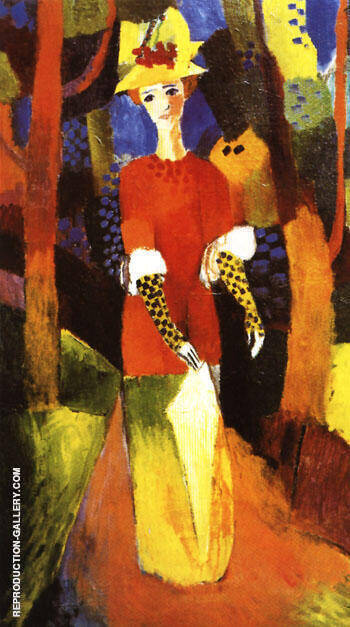 Woman in Park 1914 By August Macke