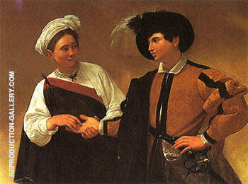 Reproduction of The Fortune-Teller C-1594-95 by Caravaggio | Oil Painting Replica On CanvasReproduction Gallery