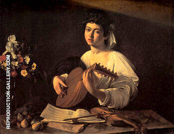 The Lute Player c.1595-6 By Caravaggio - Oil Paintings & Art Reproductions - Reproduction Gallery