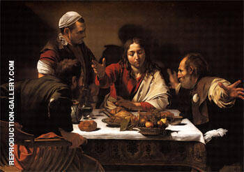 Supper at Emmaus 1601 By Caravaggio - Oil Paintings & Art Reproductions - Reproduction Gallery
