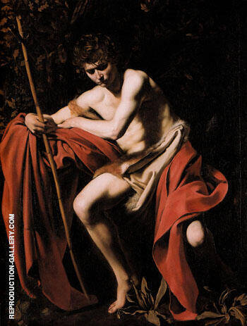 St John The Baptist c.1603-5 Painting By Caravaggio - Reproduction Gallery
