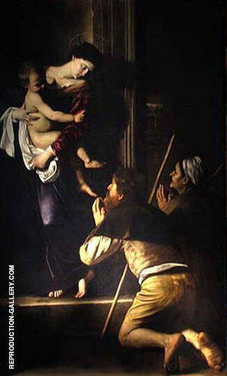 Madonna di Loreto c1603 Painting By Caravaggio - Reproduction Gallery