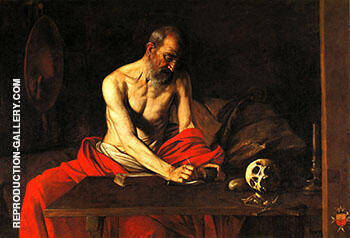 Reproduction of St Jerome c.1607-8 by Caravaggio | Oil Painting Replica On CanvasReproduction Gallery