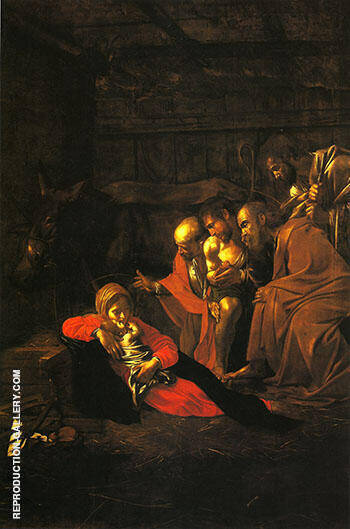 The Adoration of the Shepherds 1608-9 By Caravaggio - Oil Paintings & Art Reproductions - Reproduction Gallery