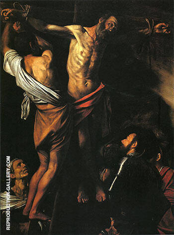 The Crucifixion of St Andrew c.1609-10 By Caravaggio - Oil Paintings & Art Reproductions - Reproduction Gallery
