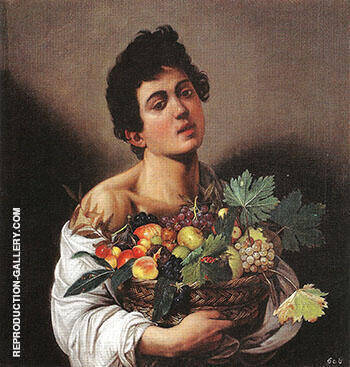 Boy with Basket of Fruit 1593 Painting By Caravaggio