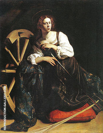 Saint Catherine of Alexandria 1598 By Caravaggio