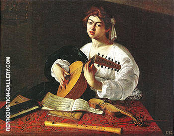 Lute Player 1596 Painting By Caravaggio - Reproduction Gallery