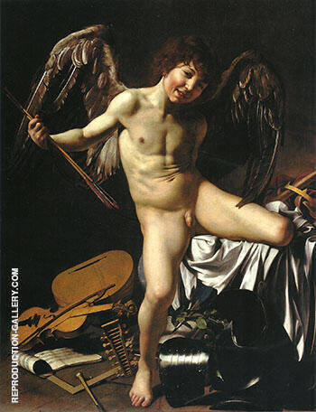 Victorious Cupid 1602 By Caravaggio