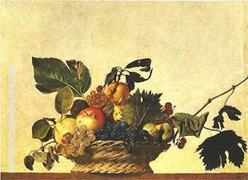 Basket of Fruit c.1598-1599 Painting By Caravaggio - Reproduction Gallery