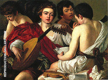 The Musicians c.1595-1596 Painting By Caravaggio - Reproduction Gallery