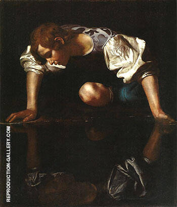 Narcissus 1598-1599 By Caravaggio - Oil Paintings & Art Reproductions - Reproduction Gallery