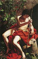 Saint John the Baptist 1597-1598 By Caravaggio