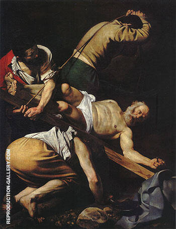 The Crucifixion of Saint Peter 1601 Painting By Caravaggio