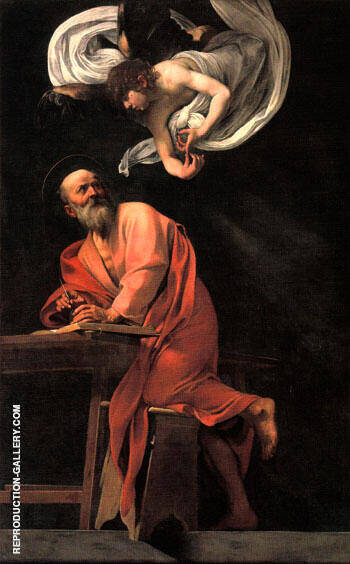Inspiration of Saint Matthew 1602 By Caravaggio