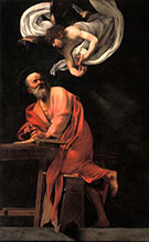 Inspiration of Saint Matthew 1602 By Caravaggio