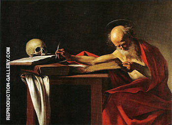 Saint Jerome Writing c1606 Painting By Caravaggio - Reproduction Gallery