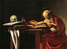 Saint Jerome Writing c1606 By Caravaggio