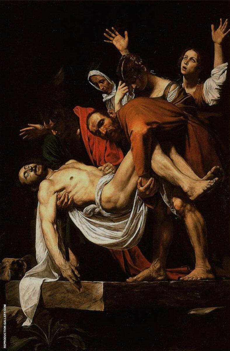 The Entombment of Christ 1602-1603 Painting By Caravaggio