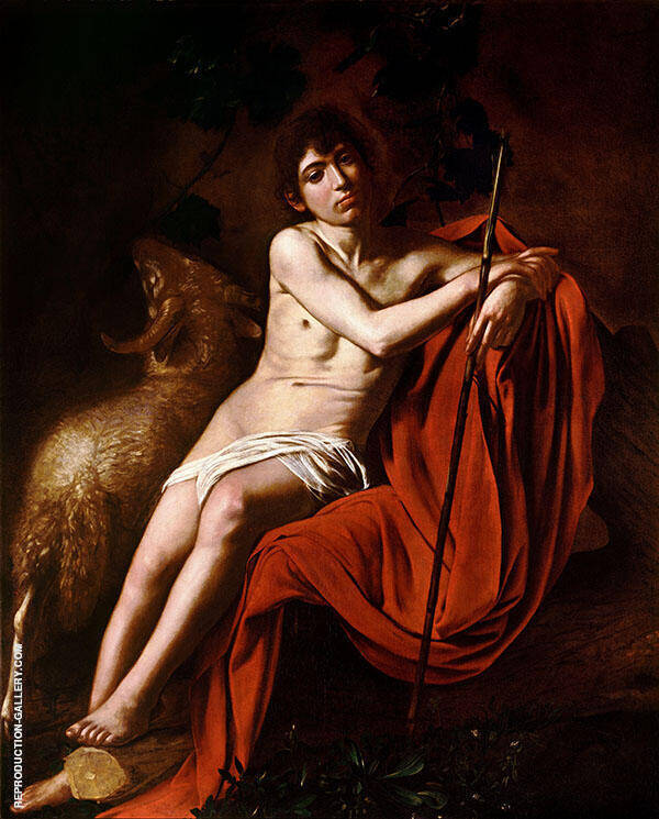 Saint John the Baptist 1609-1610 By Caravaggio
