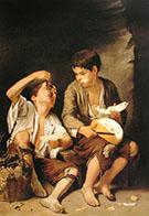 Boys Eating Fruit Grape and Melon Eaters 1645 By Bartolome Esteban Murillo
