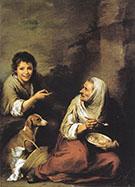 Urchin Mocking an Old Woman Eating Polenta By Bartolome Esteban Murillo