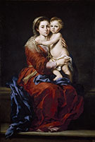 Virgin and Child with a Rosary 1650 By Bartolome Esteban Murillo