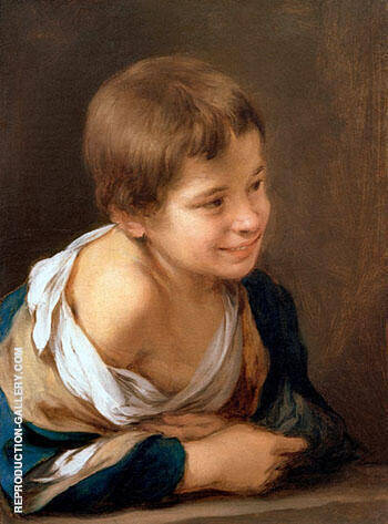 A Peasant Boy Leaning on a Sill 1675 Painting By Bartolome Esteban Murillo