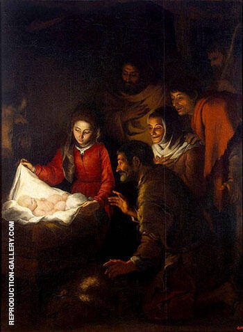 Adoration of the Shepherds 1646-1650 By Bartolome Esteban Murillo - Oil Paintings & Art Reproductions - Reproduction Gallery