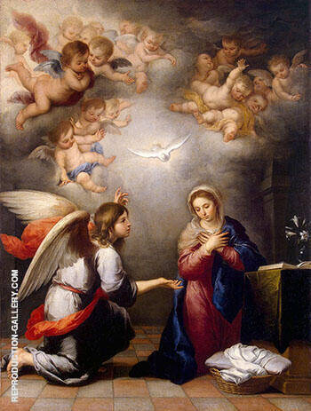 Annunciation 1660-1665 By Bartolome Esteban Murillo