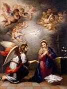Annunciation 1660-1665 By Bartolome Esteban Murillo