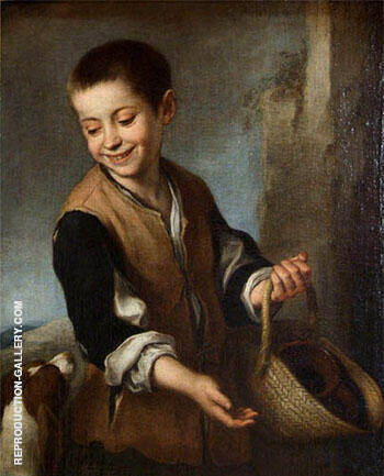Boy with a Dog c.1650 Painting By Bartolome Esteban Murillo