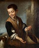 Boy with a Dog c.1650 By Bartolome Esteban Murillo