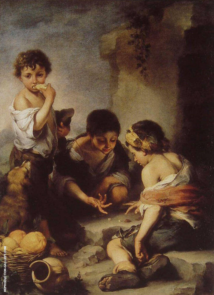 Children Playing with Dice 1670 By Bartolome Esteban Murillo