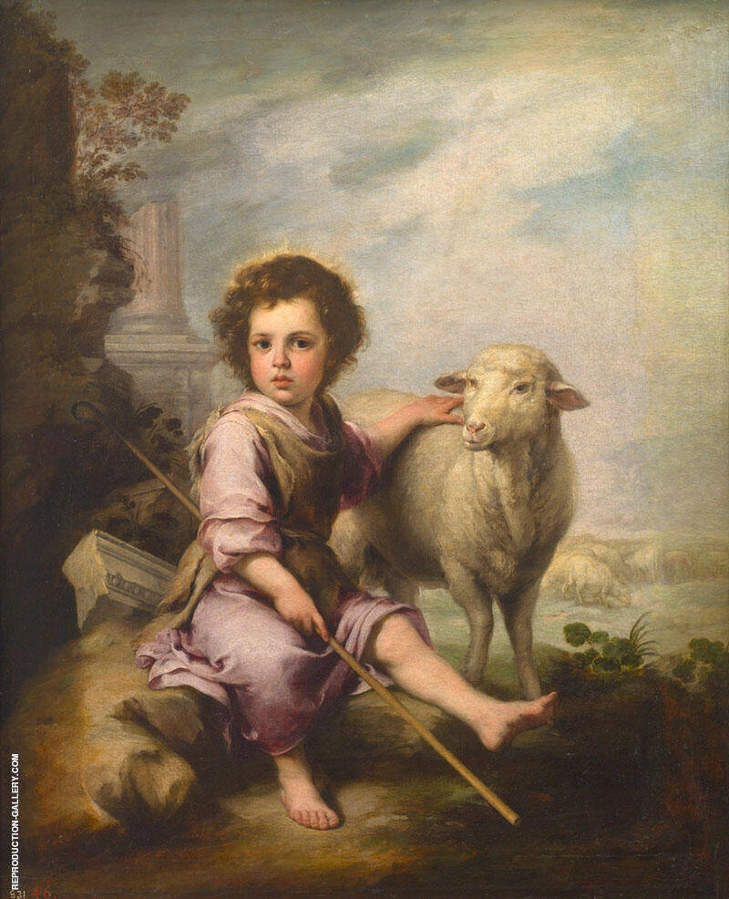 Christ the Good Shepherd c 1660 By Bartolome Esteban Murillo