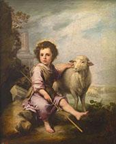 Christ the Good Shepherd c 1660 By Bartolome Esteban Murillo