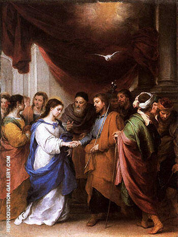 The Marriage of the Virgin c.1665 Painting By Bartolome Esteban Murillo